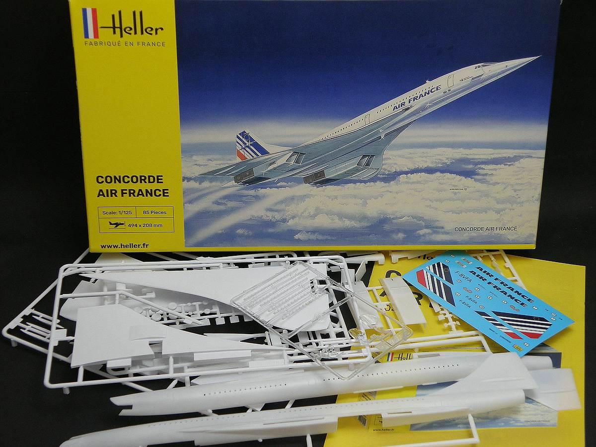 Heller-80445-Concorde-Air-France-33 Concorde Air France in 1:125 von Heller #80445
