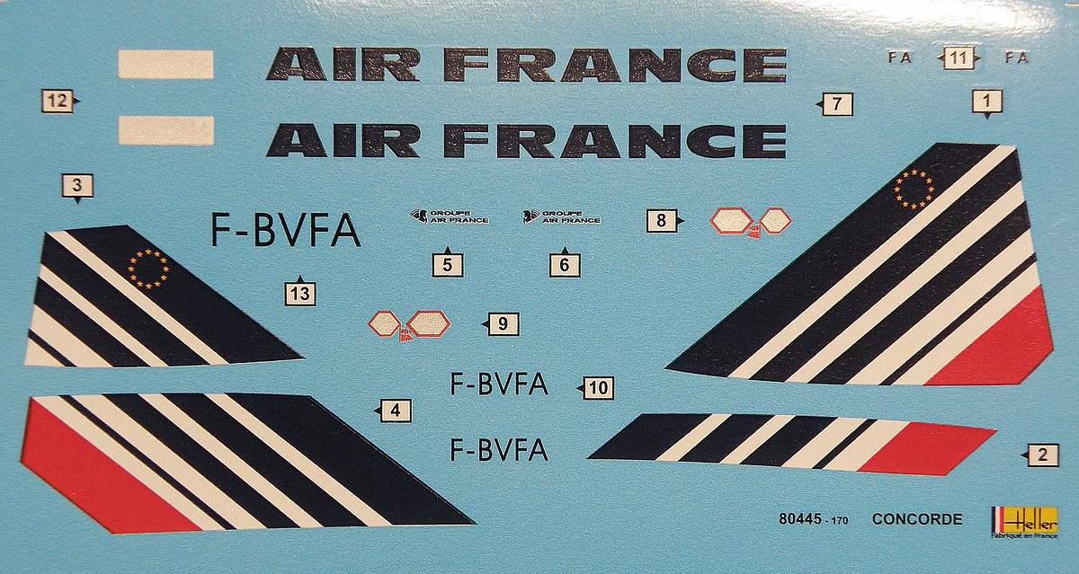 Heller-80445-Concorde-Air-France-9 Concorde Air France in 1:125 von Heller #80445