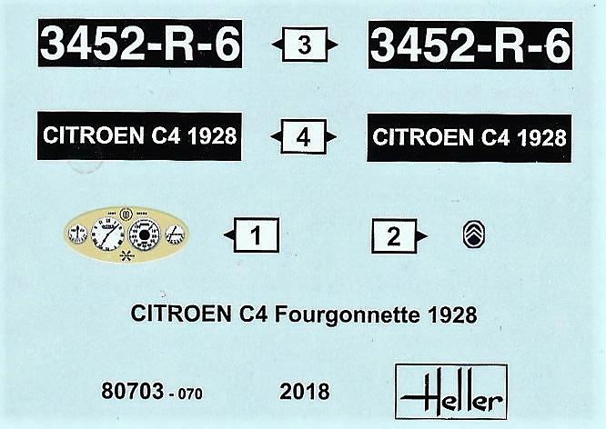 Heller-80703-Citroen-C4-Fourgonette-1928-27 Citroen C4 Fourgonette 1928 in 1:24 von Heller # 80703