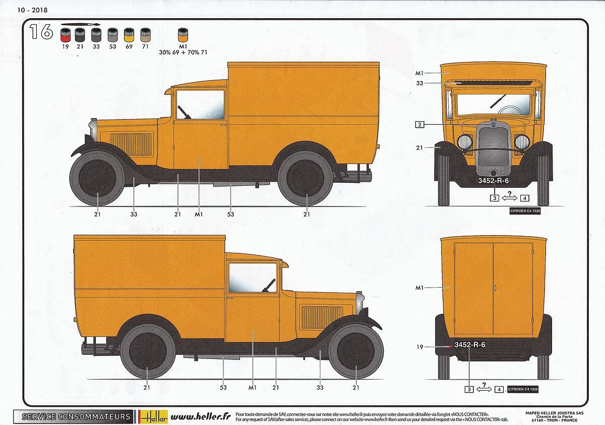Heller-80703-Citroen-C4-Fourgonette-1928-39 Citroen C4 Fourgonette 1928 in 1:24 von Heller # 80703