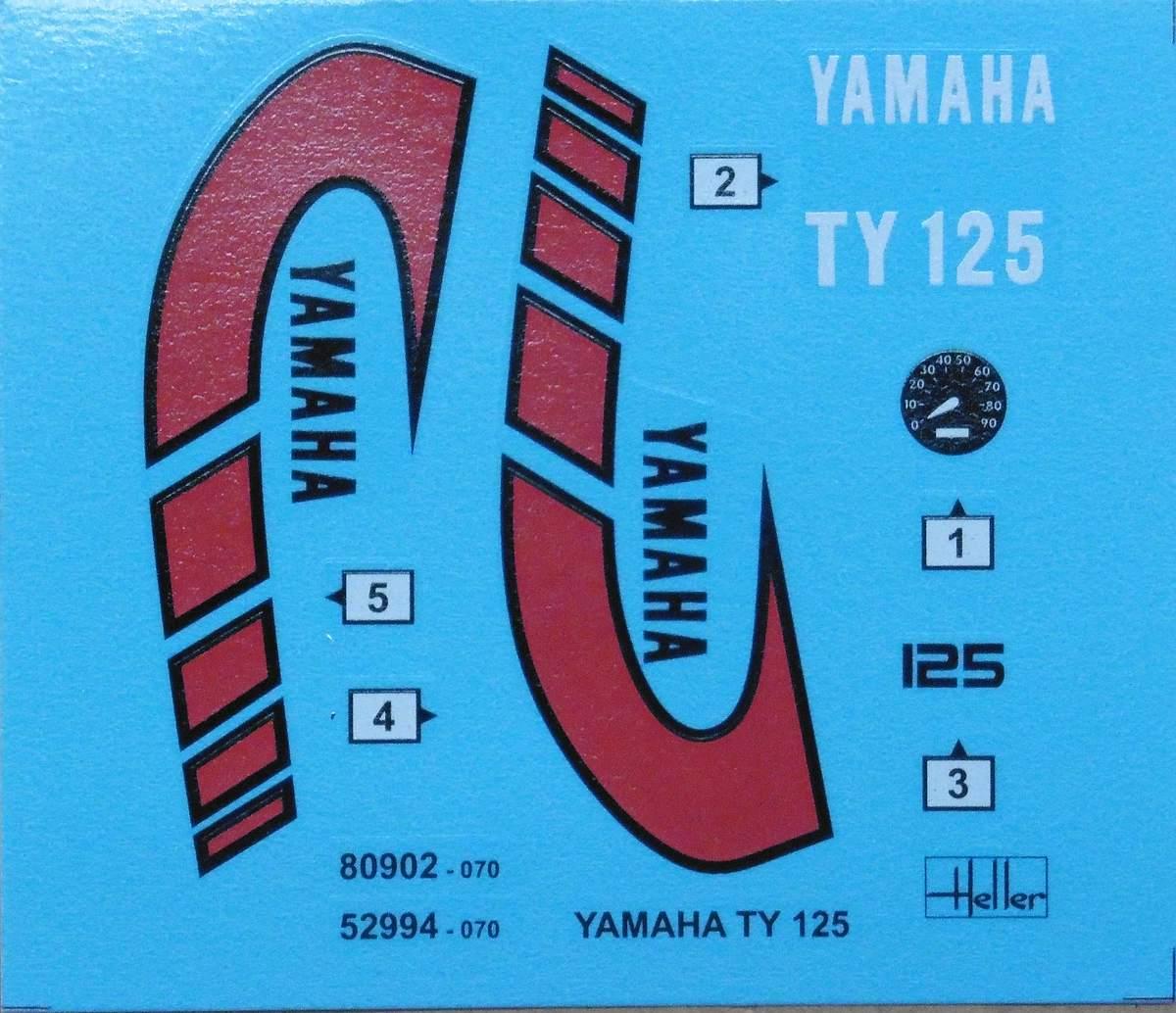 Heller-80902-Yamaha-TY-125-1zu8-14 Yamaha TY 125 in 1:8 von Heller # 80902