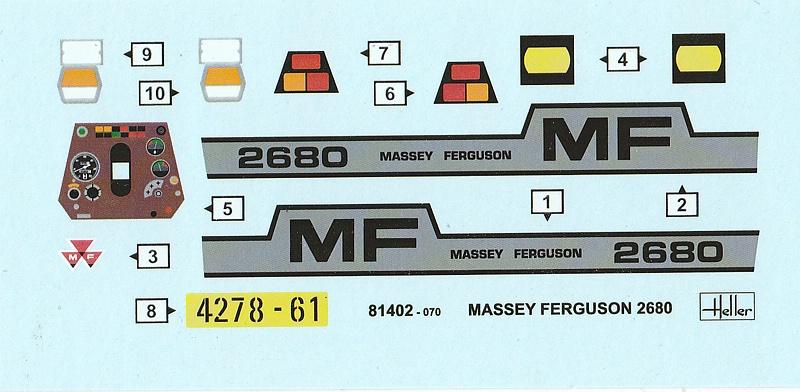 Heller-81402-Massey-Ferguson-2680-15 Massey Ferguson 2680 in 1:24 von Heller # 81402