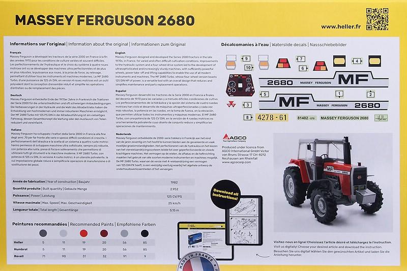 Heller-81402-Massey-Ferguson-2680-2 Massey Ferguson 2680 in 1:24 von Heller # 81402