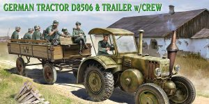 German Tractor D 8506 with trailer & crew in 1:35