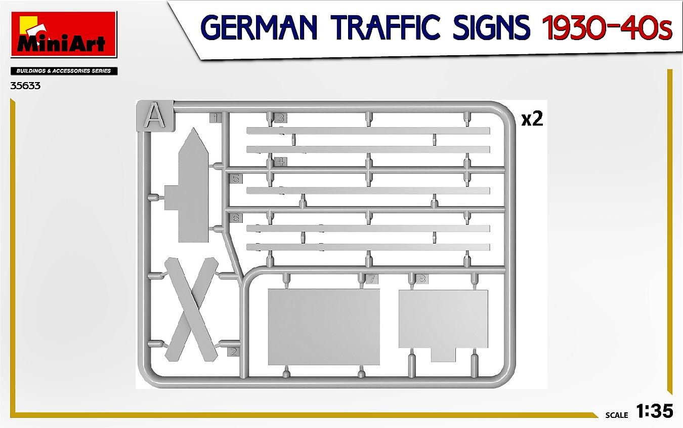 MIniArt-35633-German-Traffic-signs-4 German Traffic Signs 1930-40s in 1:35 von MiniArt #35633