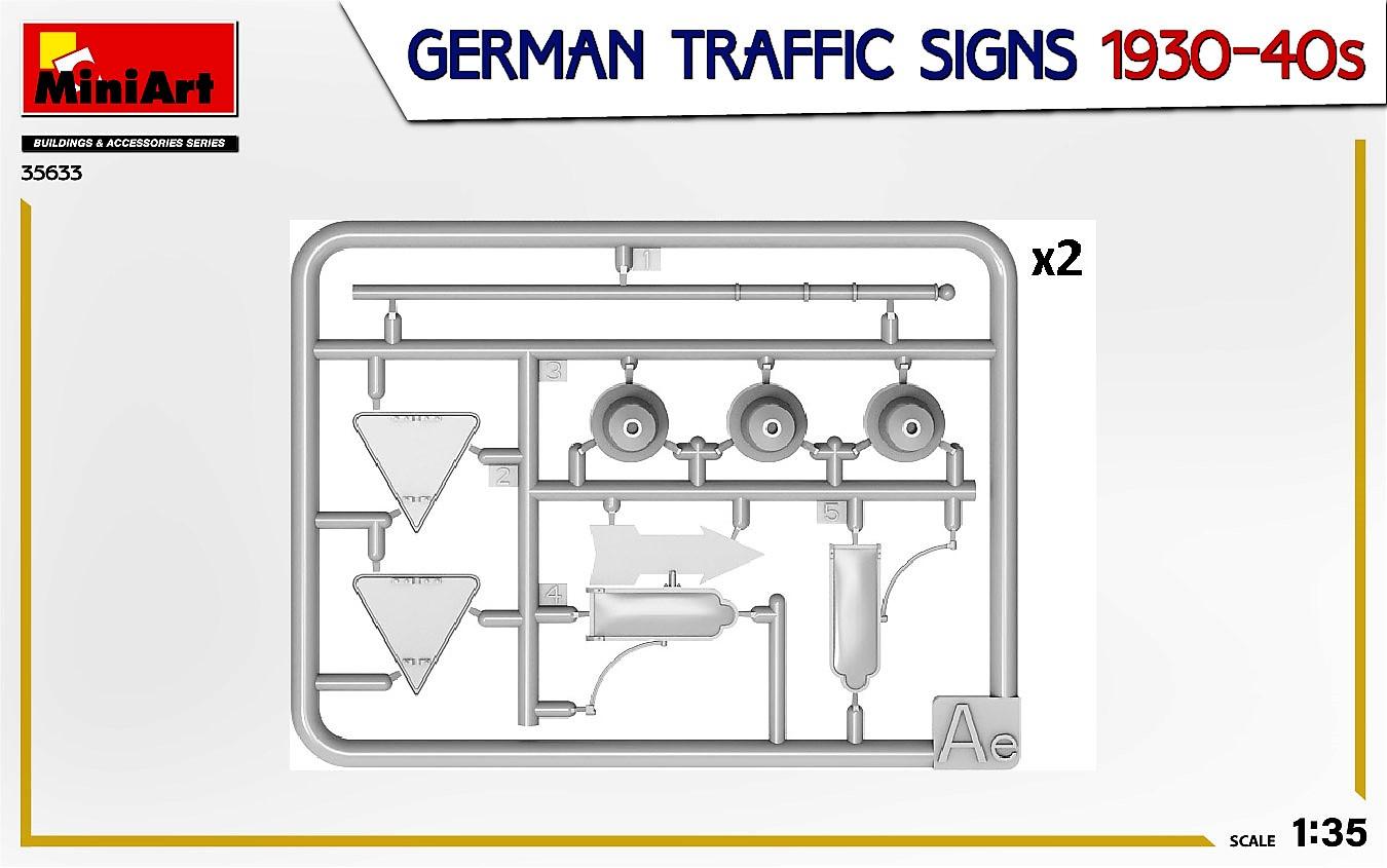 MIniArt-35633-German-Traffic-signs-5 German Traffic Signs 1930-40s in 1:35 von MiniArt #35633