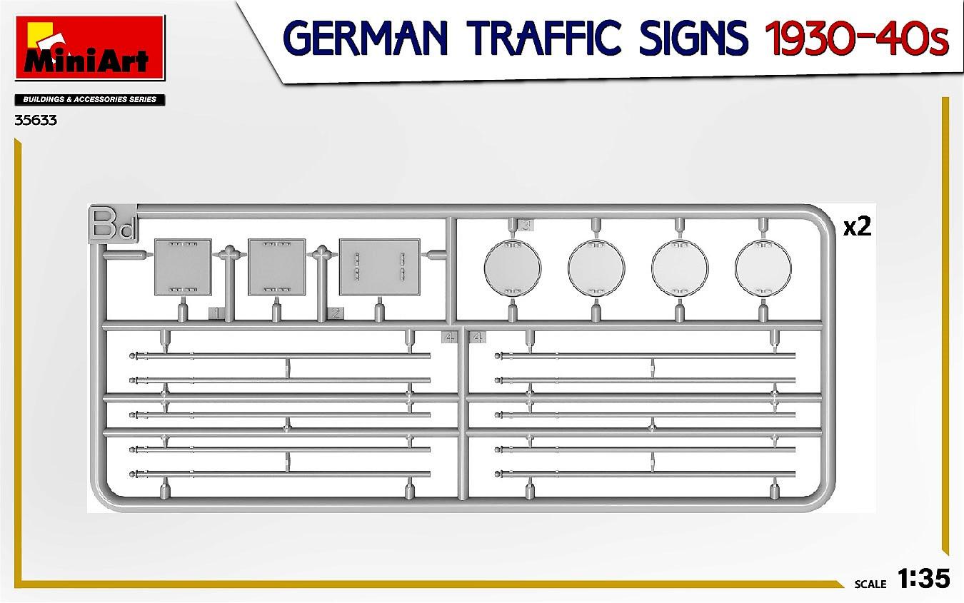 MIniArt-35633-German-Traffic-signs-6 German Traffic Signs 1930-40s in 1:35 von MiniArt #35633