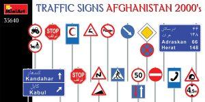 35640 TRAFFIC SIGNS AFGHANISTAN 2000's in 1:35 von MiniArt
