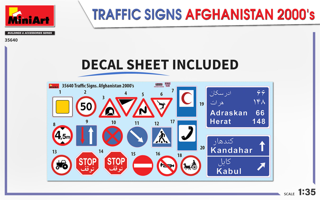 MiniArt-35640-Traffic-Signs-Afghansistan-2000s-2 35640 TRAFFIC SIGNS AFGHANISTAN 2000's in 1:35 von MiniArt