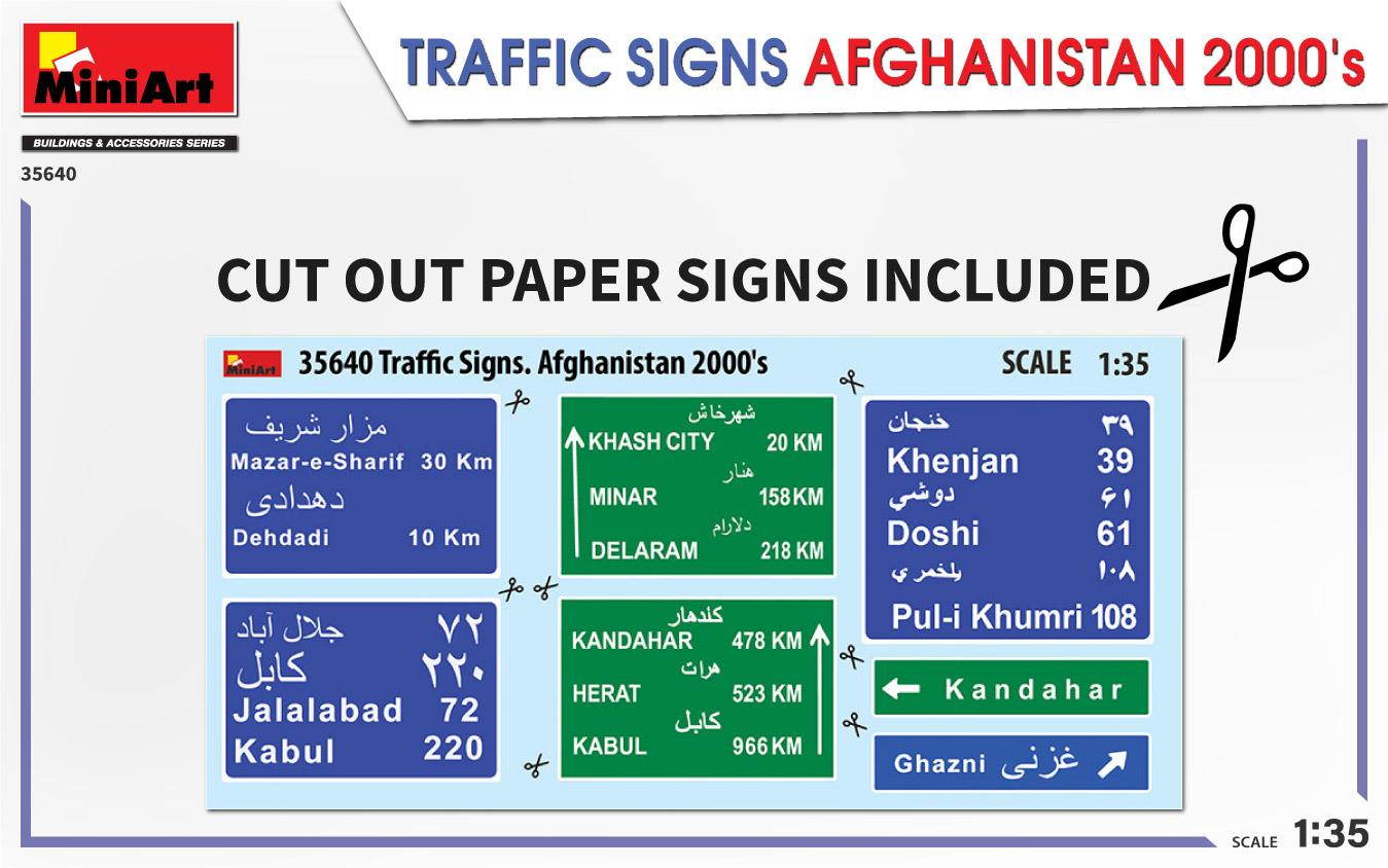 MiniArt-35640-Traffic-Signs-Afghansistan-2000s-4 35640 TRAFFIC SIGNS AFGHANISTAN 2000's in 1:35 von MiniArt