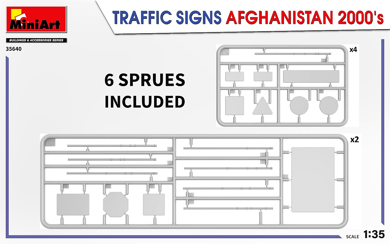 MiniArt-35640-Traffic-Signs-Afghansistan-2000s-5 35640 TRAFFIC SIGNS AFGHANISTAN 2000's in 1:35 von MiniArt