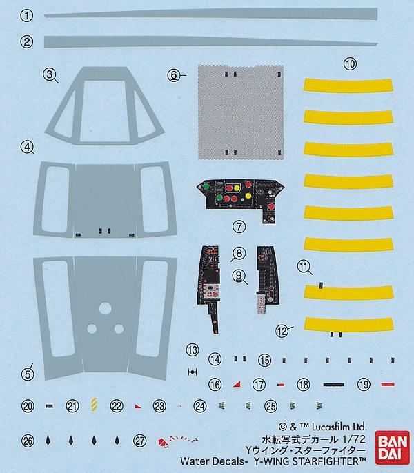 Revell-01209-Y-Wing-Starfighter-9 Y-Wing Starfighter in 1:72 von Revell # 01209