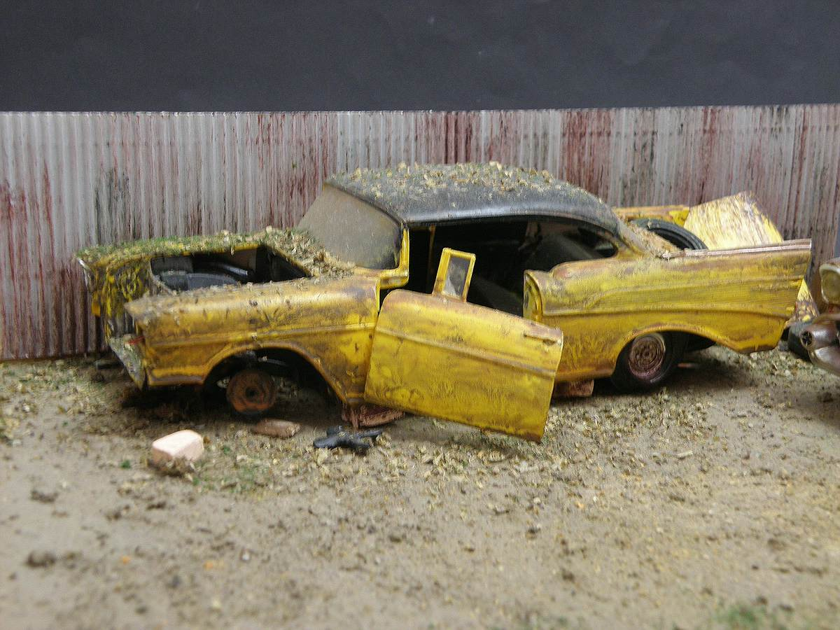 """Revell-07306-57er-Chevy-Bel-Air-12 Kit-Archäologie: California Classics 1957 Chevrolet BelAir""""Street Fighter"""" (#07306), Revell, 1:25"""