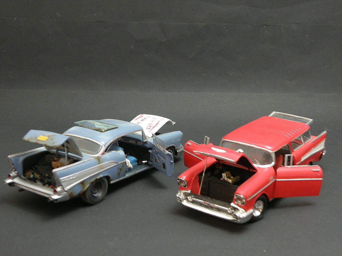 """Revell-07306-57er-Chevy-Bel-Air-18 Kit-Archäologie: California Classics 1957 Chevrolet BelAir""""Street Fighter"""" (#07306), Revell, 1:25"""