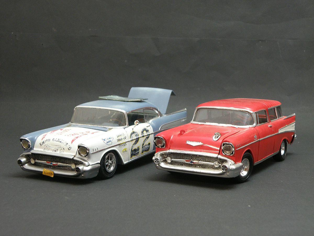 """Revell-07306-57er-Chevy-Bel-Air-23 Kit-Archäologie: California Classics 1957 Chevrolet BelAir""""Street Fighter"""" (#07306), Revell, 1:25"""