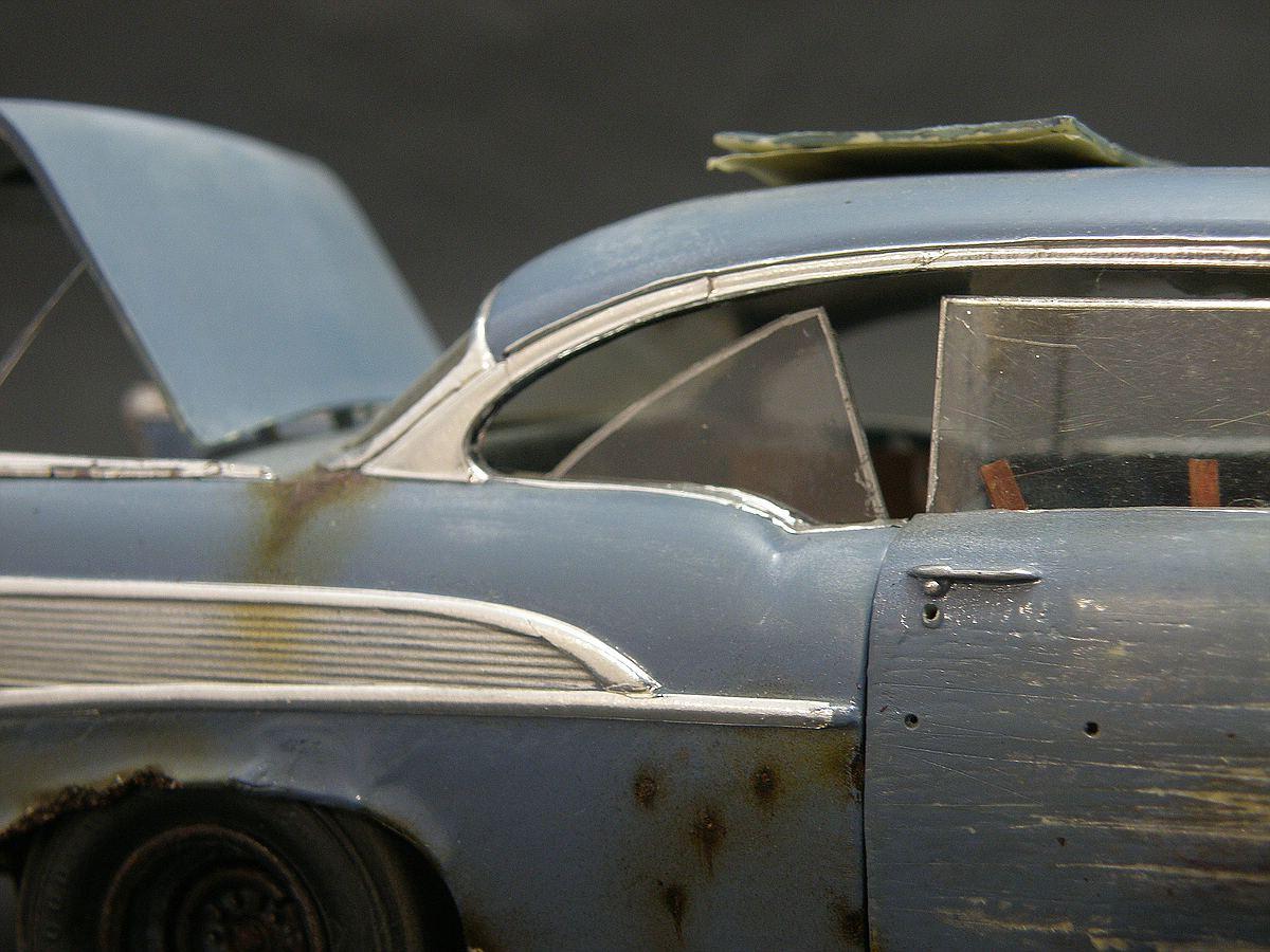 """Revell-07306-57er-Chevy-Bel-Air-24 Kit-Archäologie: California Classics 1957 Chevrolet BelAir""""Street Fighter"""" (#07306), Revell, 1:25"""