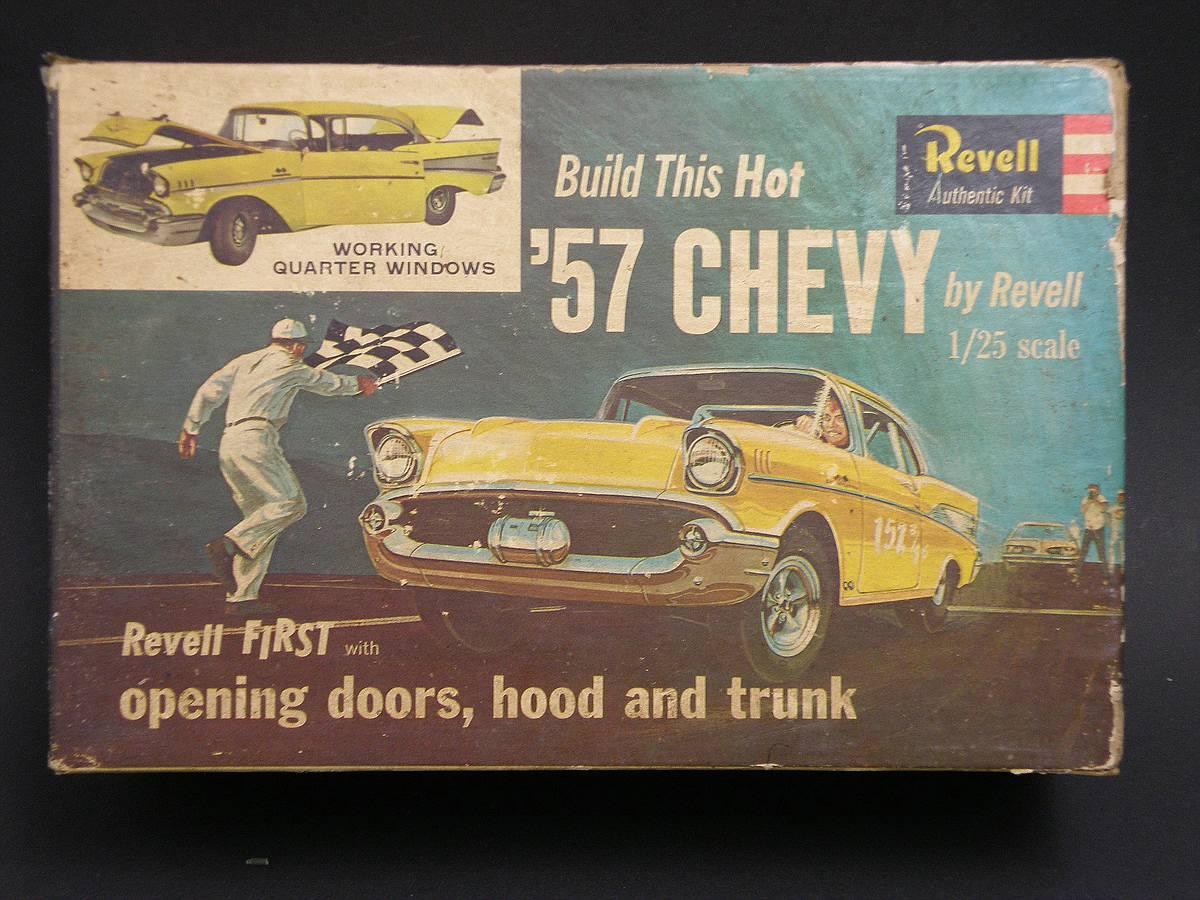 """Revell-07306-57er-Chevy-Bel-Air-28 Kit-Archäologie: California Classics 1957 Chevrolet BelAir""""Street Fighter"""" (#07306), Revell, 1:25"""