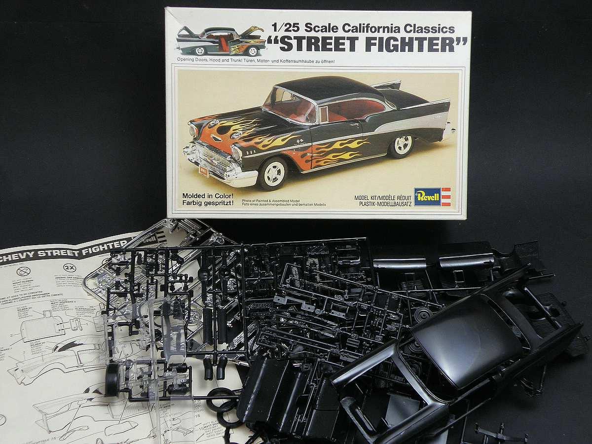 """Revell-07306-57er-Chevy-Bel-Air-32 Kit-Archäologie: California Classics 1957 Chevrolet BelAir""""Street Fighter"""" (#07306), Revell, 1:25"""