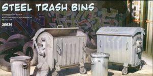 Steel Trash Bins – MiniArt 1/35