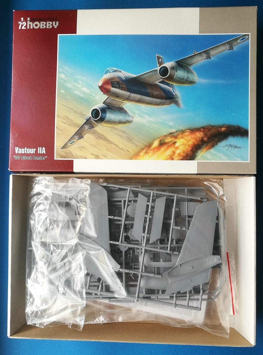 Special-Hobby-SH-72096-Vautour-II-A-32 Vautour II A IDF Attack Bomber in 1:72 Special Hobby # 72096