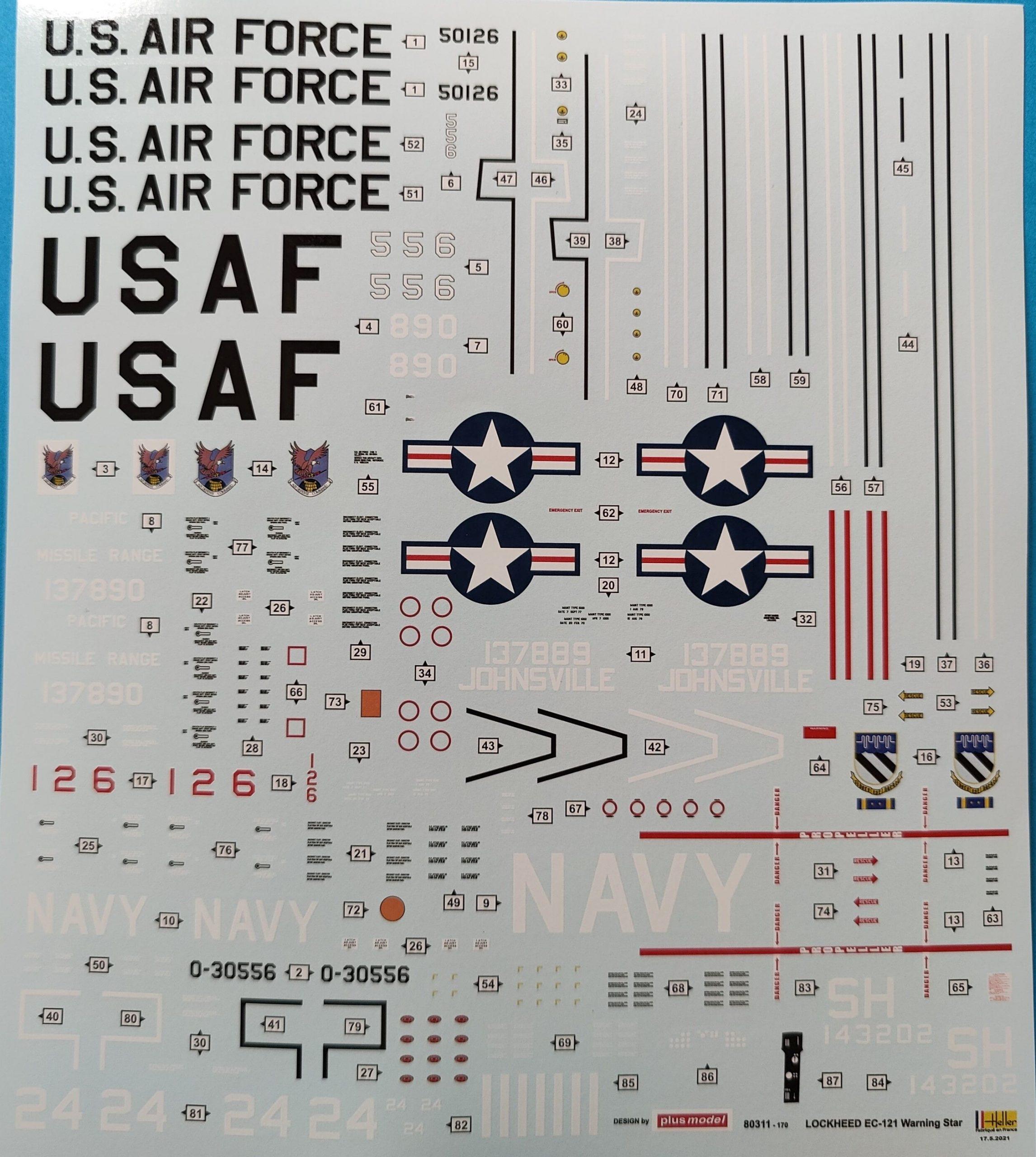 heller_lockheed_warn04-scaled Lockheed EC-121 Warning Star von Heller in 1:72
