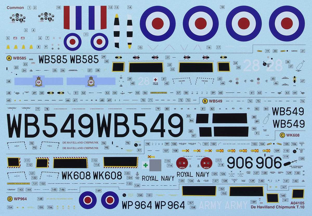 Airfix-A-04105-DH-Chipmunk-38 DH Chipmunk T-10 (1:48) Airfix # A 04105