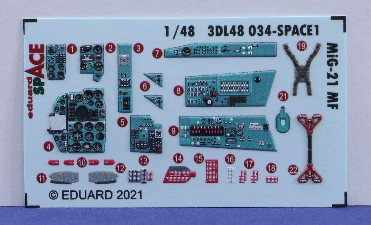 Eduard-3DL48034-Space-MiG-21-MF-3 Eduard SPACE für die MiG-21 MF # 3DL48034