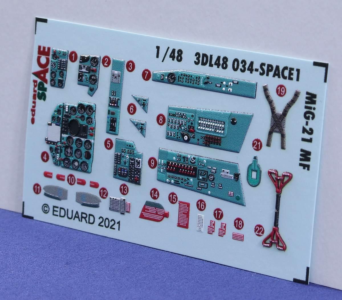 Eduard-3DL48034-Space-MiG-21-MF-4 Eduard SPACE für die MiG-21 MF # 3DL48034