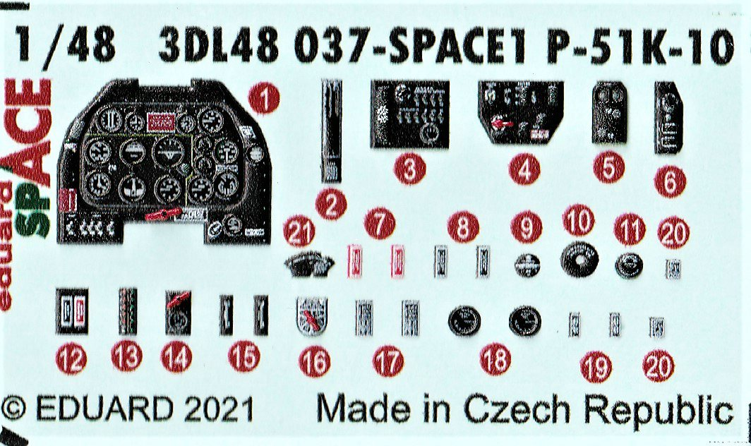 Eduard-3DL48037-P-51K-SPACE-2 Eduard SPACE für die eigene P-51K #3DL48037