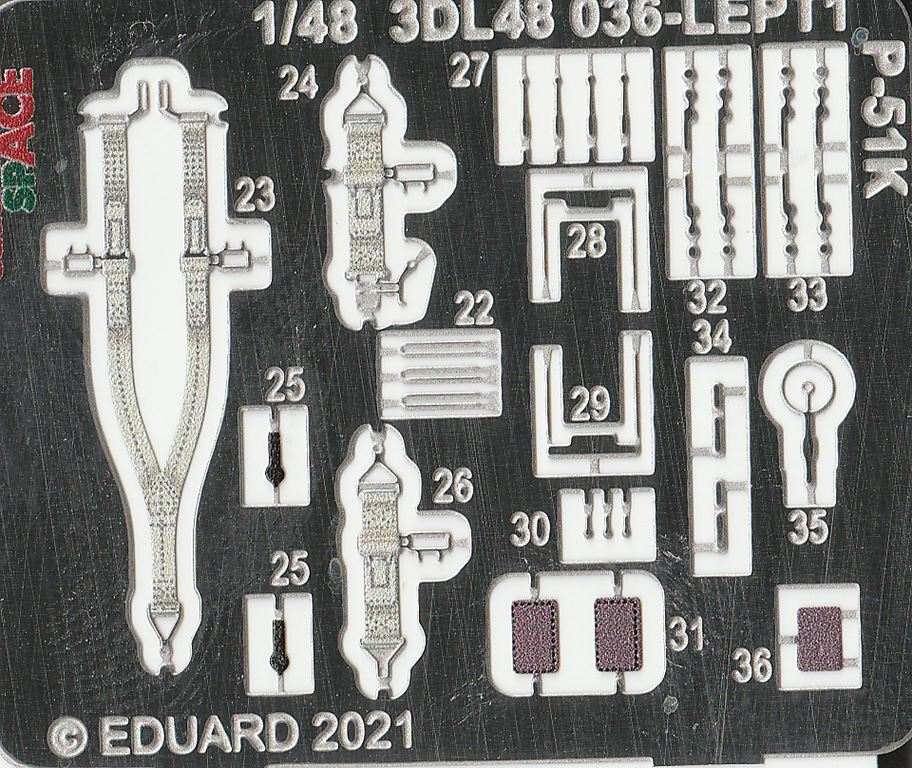 Eduard-3DL48037-P-51K-SPACE-8 Eduard SPACE für die eigene P-51K #3DL48037