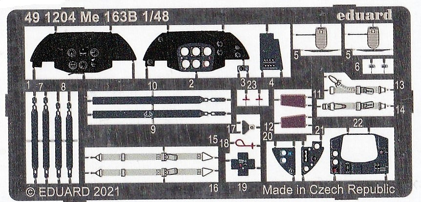 Eduard-491204-Me-163B-2 Eduard Detail-Set für die Me 163B von Gaspatch # 491204
