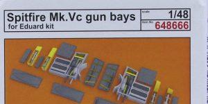 Gun Bays und Wheels für die Spitfire Mk. V von Eduard # 648664 / 648666