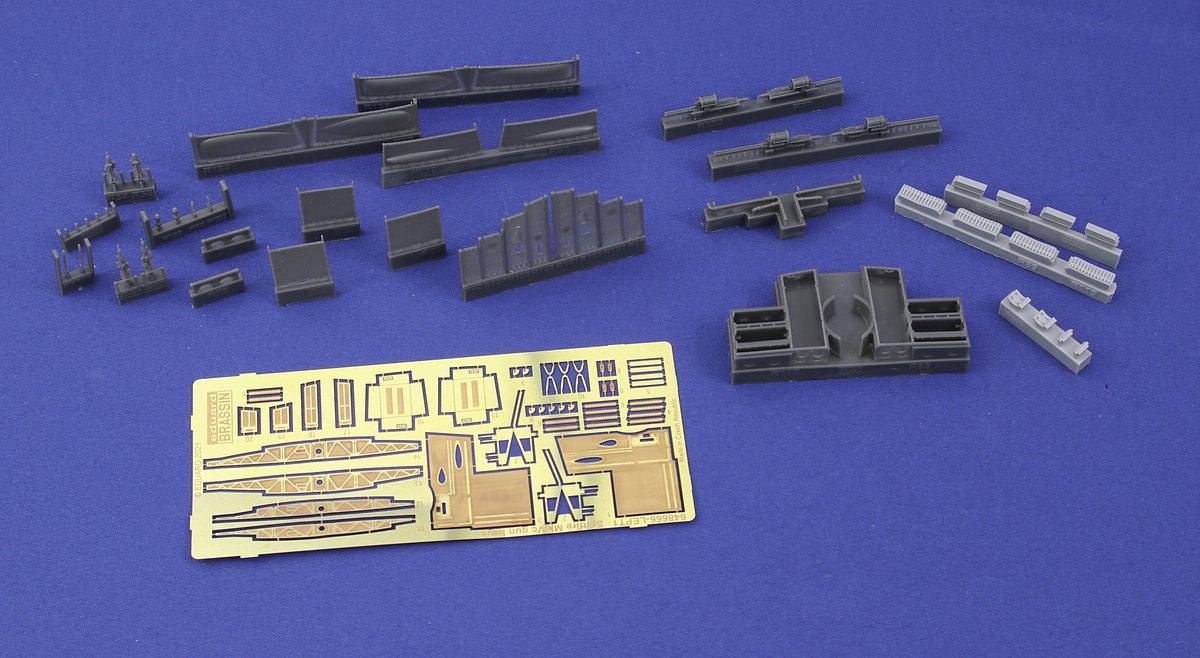 Eduard-648666-Spitfire-Mk.Vc-Gun-bays-4 Gun Bays und Wheels für die Spitfire Mk. V von Eduard # 648664 / 648666
