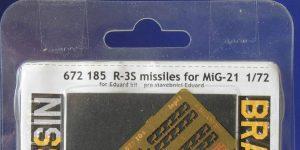 R-3S Raketen für MiG-21 in 1:72 von Eduard # 672184, -185 und -186