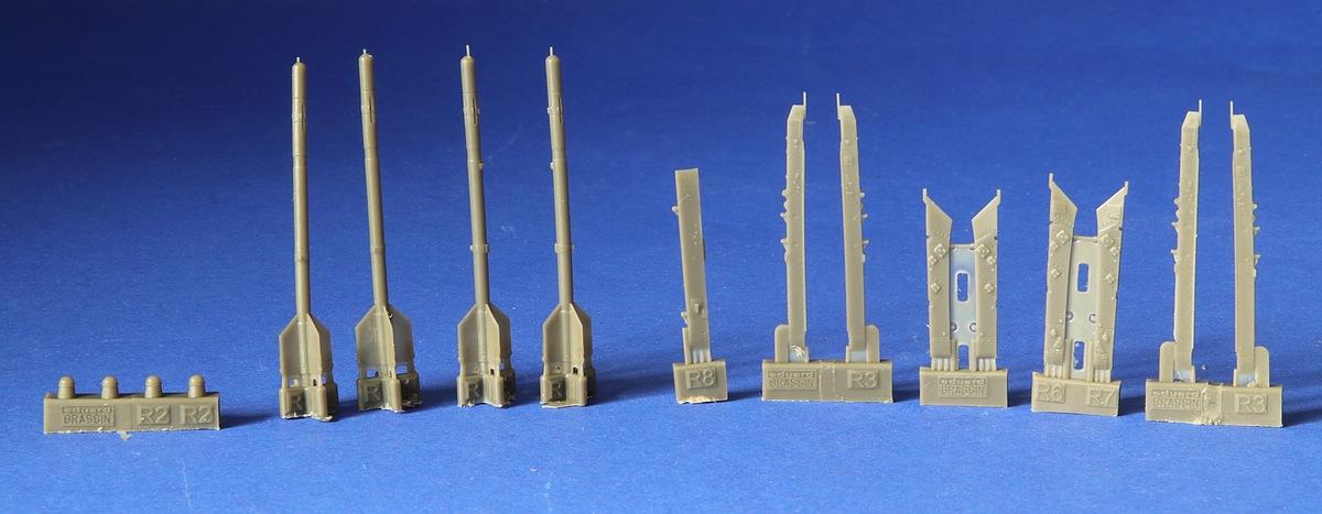 Eduard-672185-R-3S-Missiles-2 R-3S Raketen für MiG-21 in 1:72 von Eduard # 672184, -185 und -186
