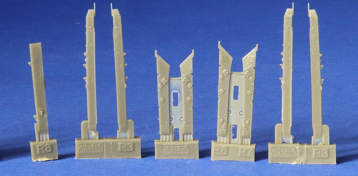 Eduard-672185-R-3S-Missiles-3 R-3S Raketen für MiG-21 in 1:72 von Eduard # 672184, -185 und -186