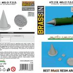 Eduard-672218-FOD-Covers-1-150x150 MiG-21 F.O.D. covers in 1:72 von Eduard #672218