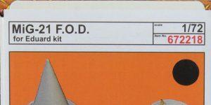 MiG-21 F.O.D. covers in 1:72 von Eduard #672218