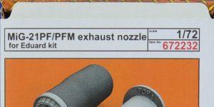 MiG-21 Exhaust nozzles in 1:72 von Eduard #672181 und -232