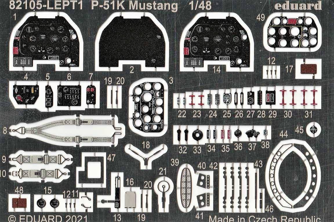 Eduard-82105-P-51K-Mustang-ProfiPAck-11 Eduard P-51K Mustang Profi-Pack in 1:48 #82105