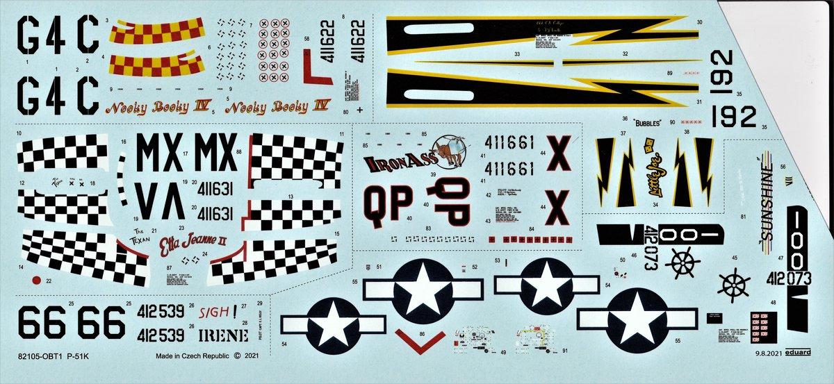 Eduard-82105-P-51K-Mustang-ProfiPAck-13 Eduard P-51K Mustang Profi-Pack in 1:48 #82105