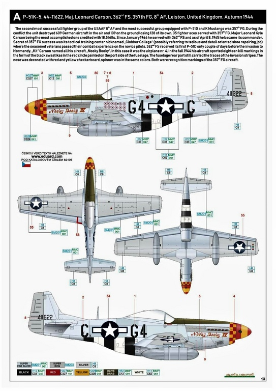 Eduard-82105-P-51K-Mustang-ProfiPAck-27 Eduard P-51K Mustang Profi-Pack in 1:48 #82105