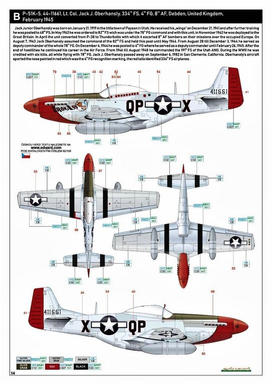 Eduard-82105-P-51K-Mustang-ProfiPAck-28 Eduard P-51K Mustang Profi-Pack in 1:48 #82105