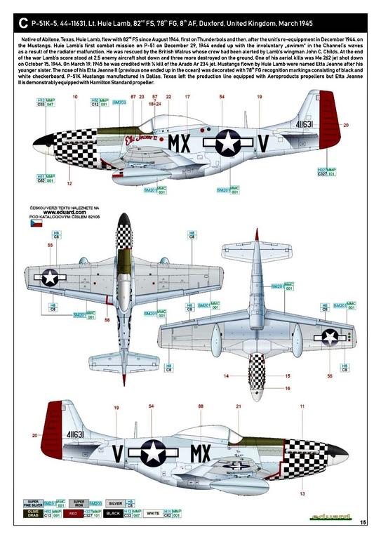 Eduard-82105-P-51K-Mustang-ProfiPAck-29 Eduard P-51K Mustang Profi-Pack in 1:48 #82105