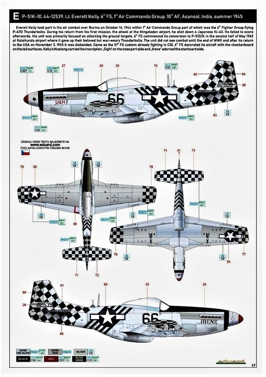 Eduard-82105-P-51K-Mustang-ProfiPAck-31 Eduard P-51K Mustang Profi-Pack in 1:48 #82105