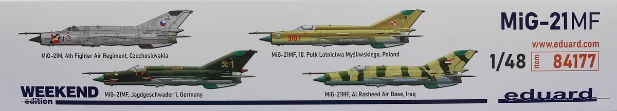 Eduard-84177-MiG-21-MF-WEEKEND-2 MiG-21 MF in 1:48 als WEEKEND von Eduard #84177