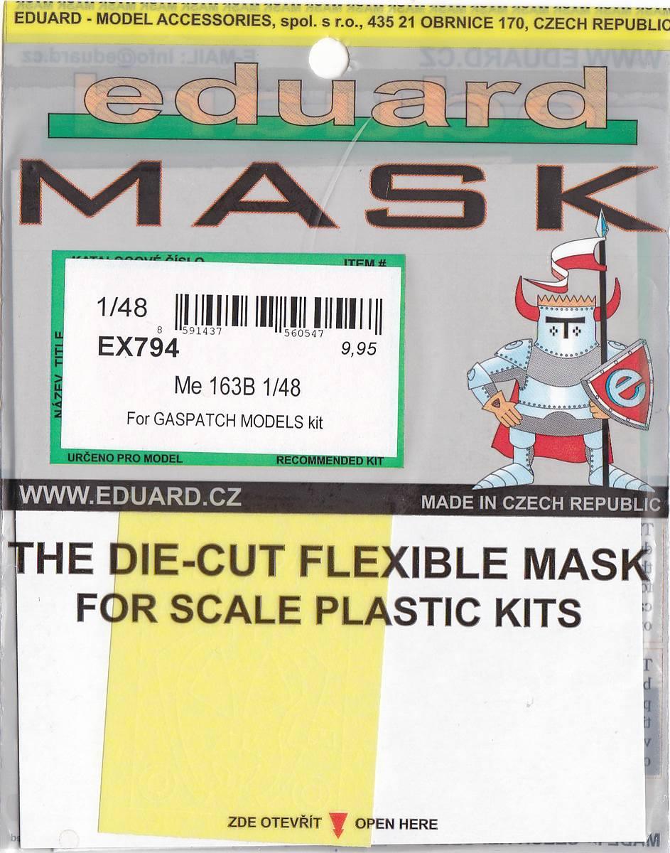 Eduard-EX-794-Me-163B-Masken-2 Eduard Maskensets für die Me 163B von Gaspatch # EX 794 und 795