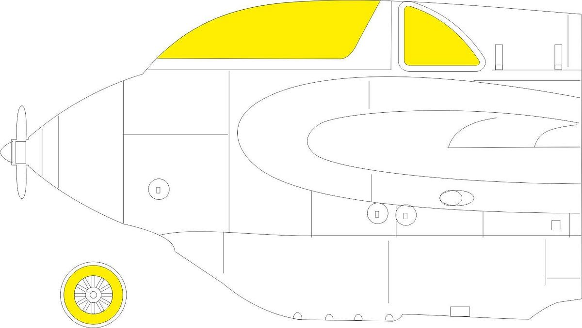 Eduard-EX-794-Me-163B-Masken-5 Eduard Maskensets für die Me 163B von Gaspatch # EX 794 und 795
