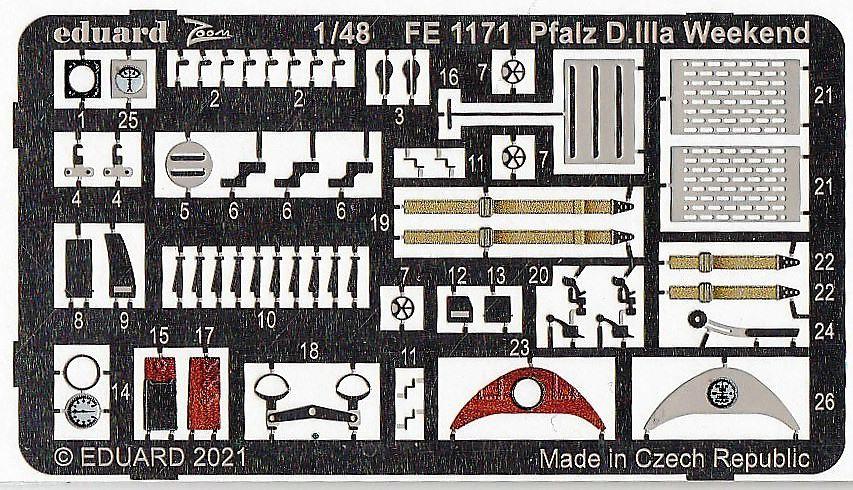 Eduard-FE-1171-Pfalz-D.IIIa-WEEKEND-ZOOM-2 Ätzteile für die Pfalz D.IIIa von Eduard # FE 1171