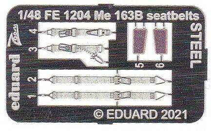 Eduard-FE-1204-Me-163B-Seatbelts-STEEL-2 Eduard Maskensets für die Me 163B von Gaspatch # EX 794 und 795